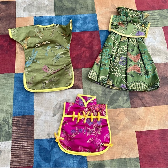 Vintage Asian style doll clothing